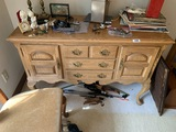 Broyhill Oak Table or buffet with drawers