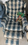 Vintage wing back recliner chair