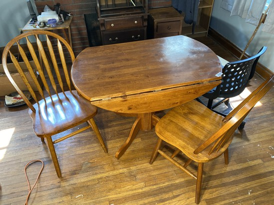 Wooden Dining Table Plus Two Chairs