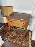 Antique Two Drawer 19th c table
