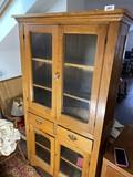 Antique Wooden Flat Wall Cupboard