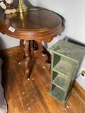Victorian Table PLUS wooden green cubby