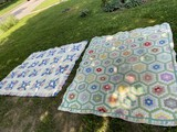 Two Vintage Hand-Stitched Quilts
