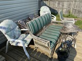 Group of older porch and outdoor furniture