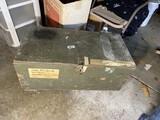 Vintage Vietnam War military trunk