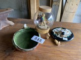 Group of antique Japanese items