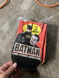 Batman trading cards in packaging
