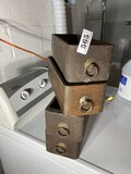 Four antique sewing machine drawers