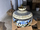 Large hanging stained glass lamp