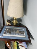 Coshocton Ohio Signed Historial print, lamp
