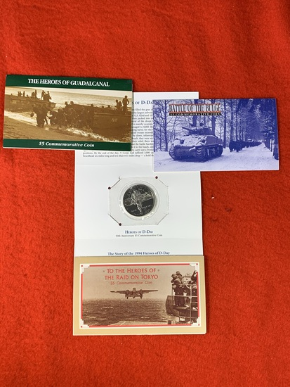 (3) $5.00 Commemorative Coin Sets