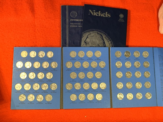 3 Coin Folders of Nickels Collection Books
