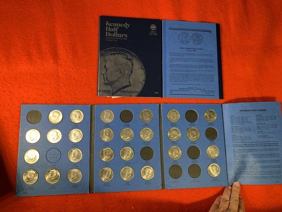 2 Coin Folders of Kennedy Half Dollars