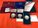 3 Silver Dollar Proof Sets