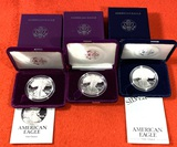 3 American Eagle One Ounce Silver Coins