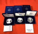 3 American Eagle One Ounce Silver Proof Coins