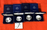 4 American Eagle One Ounce Silver Proof Coins