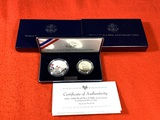 1991-1995 World War II 50th Anniversary Commemorative Coins Two -Coin Proof Set