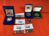 John F. Kennedy Full Color Half Dollar, Commemorative Coins & Uncirculated Coins