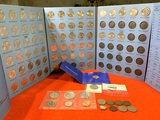 Fifty State Commemorative Quarter Folder & Other Assorted U.S Coins