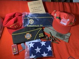 Group of Veteran Hats and Other Assorted Items
