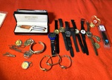 Great Group of Watches, Pens, Key Chains & More