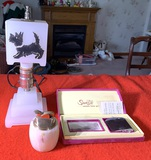 2 Lighters & Scotty Dog Glass Lamp