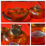 Blenko Hand Crafted Table Lighter and Ashtray