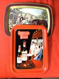 Anheuser Busch & Currier & Ives Vintage Trays