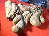 Leather Slap Jack and Vintage Boxing Gloves