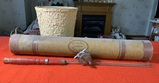 Vintage Fishing Rod, Case & Minnow Bucket