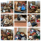 Great Group of Baskets, Blankets, Electronics, Frames, Teddy Bears & More