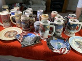 Great Collection of Beer Steins and Collector Plates