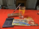 Group of VIntage Items - Postcards, Pen, & More
