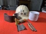 2 Vintage Knives, Shaving Cup Has Chips, & Hard Hat