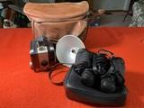 Tasco Zip  Binoculars & Brownie Hawkeye Camera & Flash