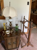 Quilt Rack, Lamp, Oil Lamp, Side Stand & Candle Holder