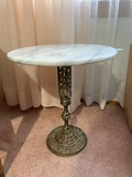 Marble Top Brass Base Plant Stand