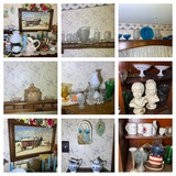 Great Group of Decorative Glassware, Lamp, Candle Holders, Busts, Candle Warmer & More