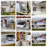 Metal Cabinet, Bread Maker, Coffee Maker, Canning Jars, Microwave Stand & More