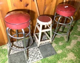 3 Vintage Stools