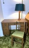 Desk, Chair & Lamp