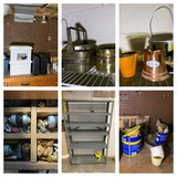 Contents of Work Bench and Shelf.  See Photos.