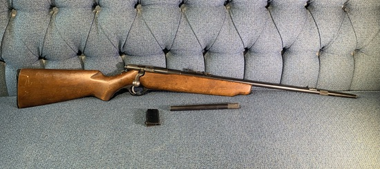 Mossberg & Sons Inc. 22 Caliber Smooth Bore Rifle with Magazine and 2 Barrel Extensions.