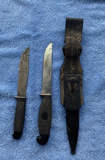 Two Antique Cattaraugus Boot Knives