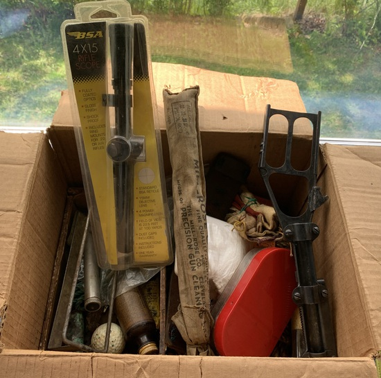 Gun Cleaning Items and Clay Thrower