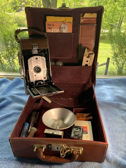 Polaroid Land Camera Model 95 with Case and Accessories