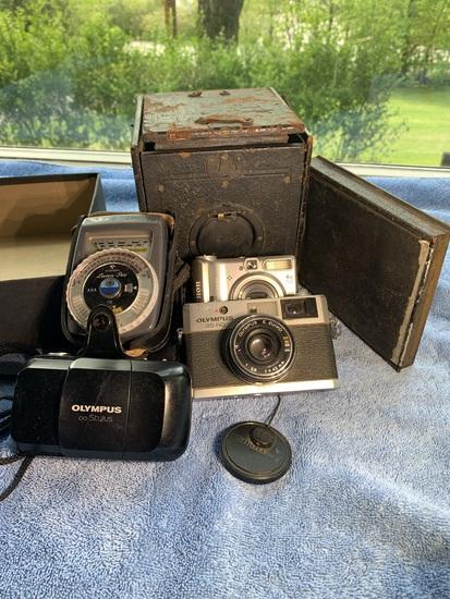 Camera Group - Olympus Stylus, Olympus 35 RC, Gossen Luna - Pro Meter, Canon Camera, & More