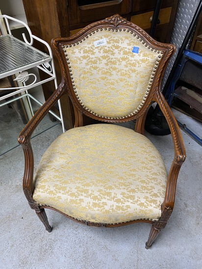 Antiue Upholstered Armchair