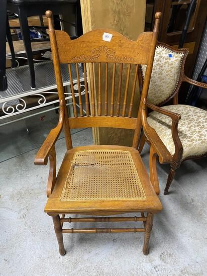 Antique oak armchair